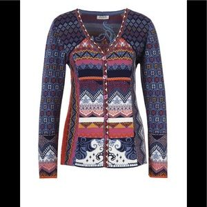 IVKO Cotton Jacket / Cardigan with Embroidery Sm